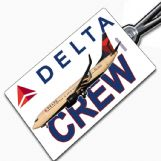 Delta Airlines 737 Crew Tag